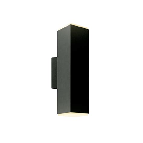 Square Wall Sconce - dals lighting black led outdoor square cylinder wall
