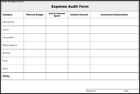 excellent audit report form template examples thogati