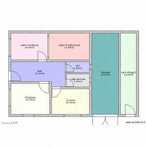 maison marocaine plan 9 pieces 100 m2 dessine par boulmane With plan d une maison marocaine