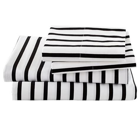 black and white sheets black and white stripe sheets the land of nod
