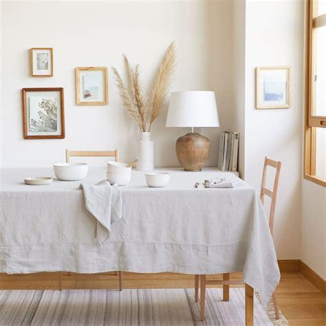 tischdecke und serviette aus leinen linen collection tisch zara home deutschland