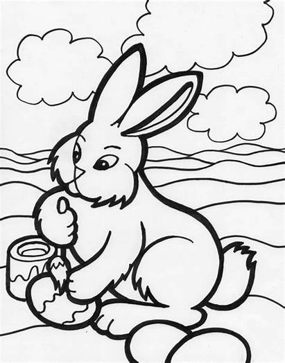 Easter Coloring Bunny Pages Bunnies Eggs Adult