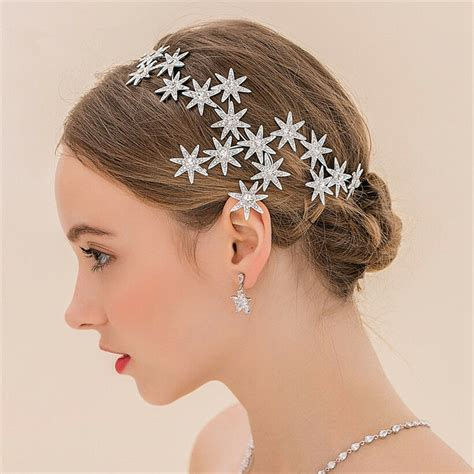 Bridal Accessories by Wedding Bridal Silver Rhinestone Headband