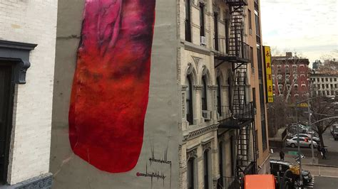 City Ny Local News by 4 Story Phallic Painting Pops Up On Side Of Nyc Building