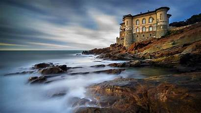Tuscany Italy Castle Livorno Landscape Vertical Wallpapers