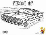 Pages Muscle Coloring Printable Classic Torino 1969 Gt Cars Truck Print Colouring Yescoloring Sheets Chevy Chevelle Printables Dodge Boys American sketch template