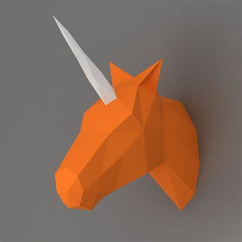unicorn  papercraft model downloadable diy template