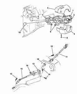 1999 Jeep Wrangler Column  Steering Upper And Lower