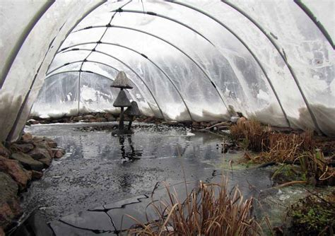 pond covers for winter winter pond cover hydrosphere water gardens 4308