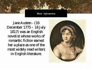"""""""Jane Austen"""" - презентація з англійської мови"""