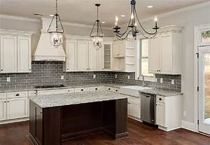 Antique White Kitchen Cabinets Contemporary With None