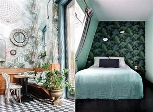 inspiration tapisserie decoration tropicale avec ces With tapis chambre bébé avec bouquet fleurs exotiques
