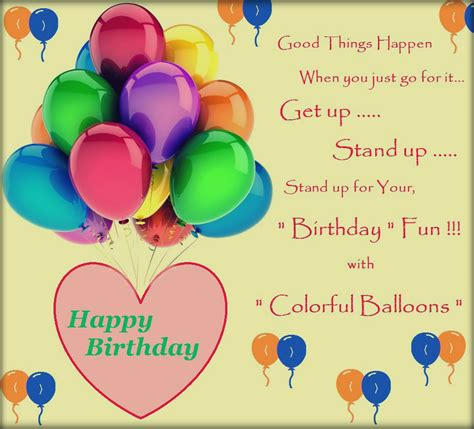 colorful balloons birthday  gifts cards