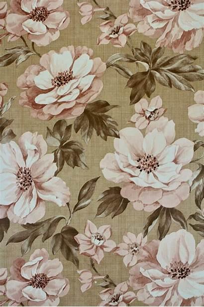 Floral Retro Wallpapers Brown Desktop Flower Wallpaperaccess