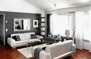 lovely idee deco salon salle a manger cuisine 1 conseil With idee deco cuisine avec meuble salle a manger blanc et gris