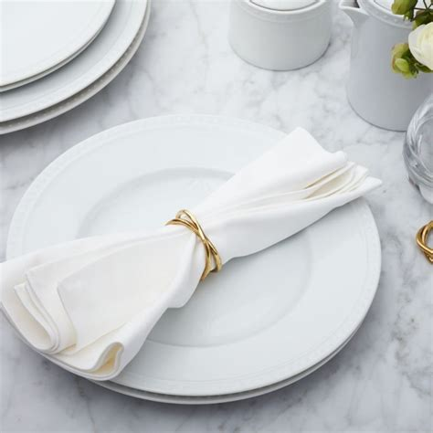 aria gold napkin ring reviews crate  barrel