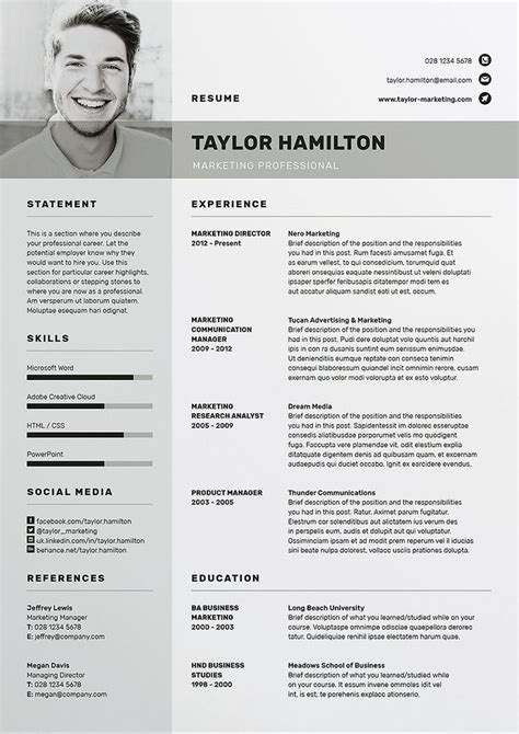 Free Cv Template Word by Best 25 Cv Template Ideas On Creative Cv