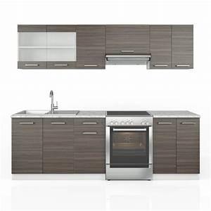 Küchenzeile 240 Cm : k chenzeile raul 240cm edelgrau ~ Orissabook.com Haus und Dekorationen