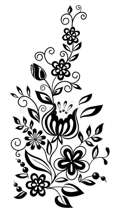 zwart witte bloemen en bladeren bloemen ontwerp vector illustratie illustratie bestaande uit