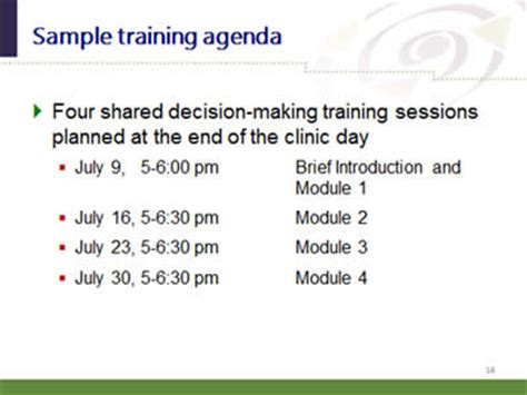 share approach workshop curriculum agency  healthcare