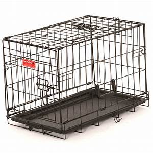 shop lucky dog 2196 in x 1296 in x 1596 in black powder With plastic folding dog crate