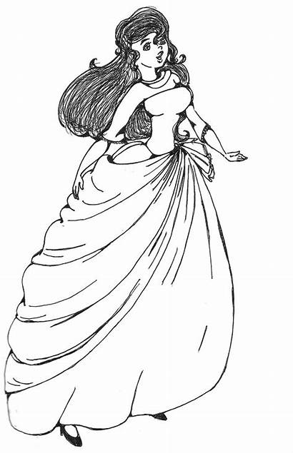 Coloring Pages Ball Fancy Gown Dresses Colouring