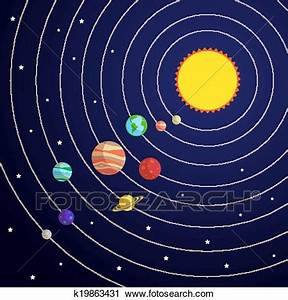 Clipart of Solar system concept k19863431 - Search Clip ...