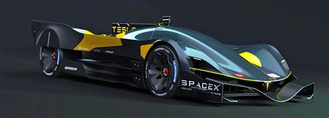 Car Design Concepts : Tesla Le Mans Car Concepts Signal Future For All-electric