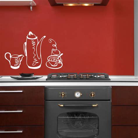stickers pour la cuisine stickers muraux pour la cuisine sticker ensemble thé