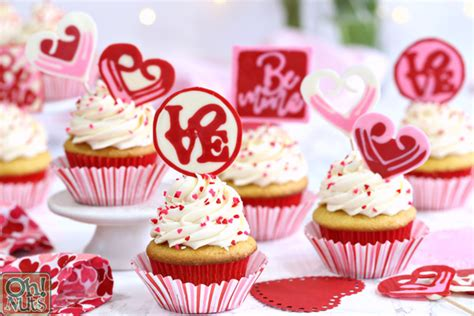 chocolate valentines day cupcake toppers  nuts blog