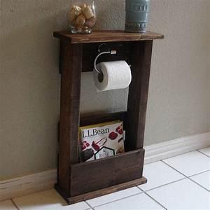 Etagere Papier Toilette : stand de support papier toilette avec tag re par keodecor sur etsy cabane pinterest ~ Teatrodelosmanantiales.com Idées de Décoration