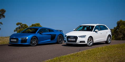 audi r8 audi r8 v10 plus v audi a3 1 0 tfsi comparison photos 1