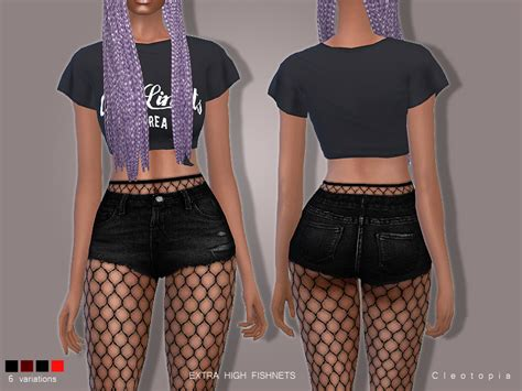 Cleotopia's Set78- High Waisted Fishnet Tights