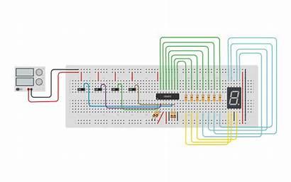 Tinkercad Segment Display Decoder 4511 Bcd Circuit