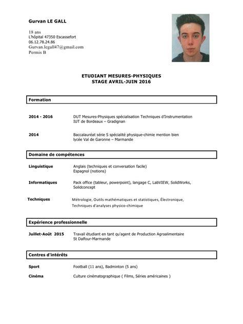 modèle de cv open office modele cv open office gratuit document