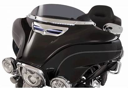 Windshield Trim Led Harley Chrome Ciro Fairing