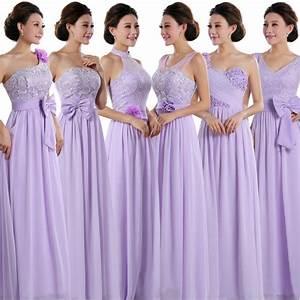 cheap lace chiffon long lilac women formal party dress