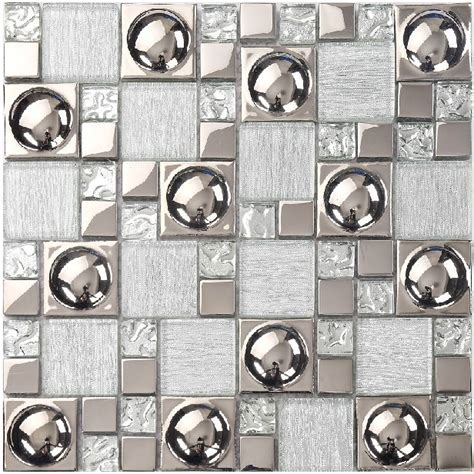 silver glass tile backsplash kitchen ideas bathroom mirror