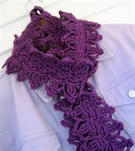 Crochet Leaves Scarf Pattern