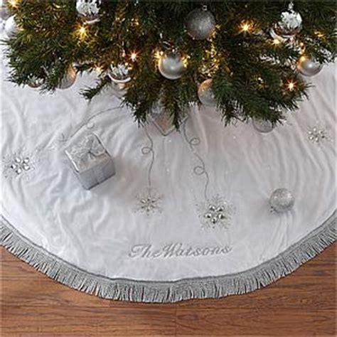 personalized christmas tree skirt seasons sparkle