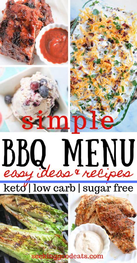 simple bbq ideas  carb bbq recipes  menu ideas
