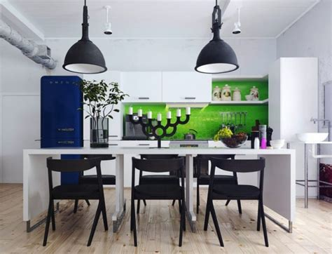 Colorful And Funky Interiors Visualized by Modern Candelabra 600x459 Jpg