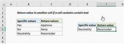 Excel Contains Cell Text Return Value Another