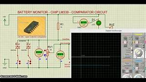 Proteus - Ic Lm339 - Battery Monitor Circuit