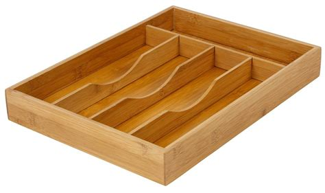 Kitchen Drawer Containers by Bamboo Cutlery Box Wood Kitchen Drawer Organiser Utensil