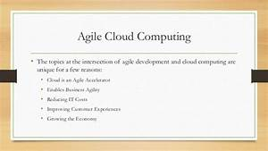 agile methodology in cloud computing With cloud computing documentation