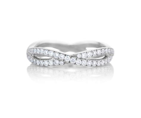 Infinity White Gold Pavé Diamond Ring