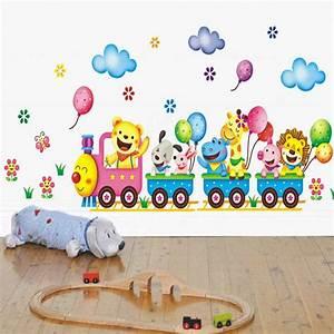 Aliexpress buy train wall sticker for kids room home