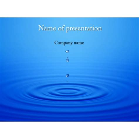 Water Drops Powerpoint Template Background For