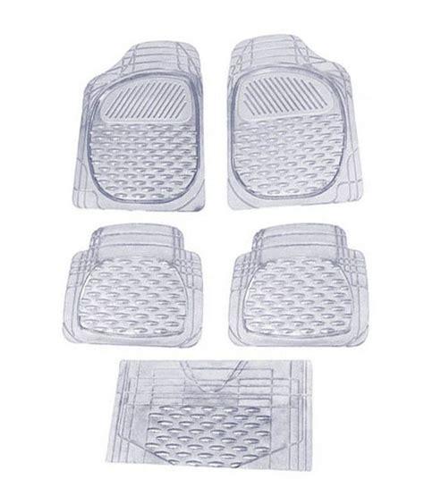 floor mats for xuv500 speedwav set of 5 premium transparent white car floor mats mahindra xuv 500 buy speedwav set of